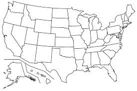 blank united states map with states and capitals state capitals of the usa quiz an us states map
