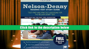 download nelson denny reading test study guide test prep and
