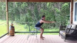 Chair Squat Chair Squat For Seniors Youtube
