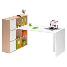 rangements de bureau bureau avec rangements colorés intégrés homeoffice 9 cases maxiburo