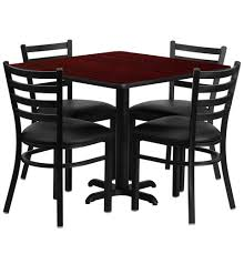 Square Dining Room Table For 4 Cafeteria Breakroom Square Dining Table Sets Restaurant Tables Chairs