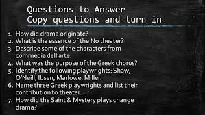 history of drama chapter seven stage and school textbook ppt
