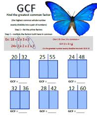 greatest common factor worksheets for grade 6 simplifying