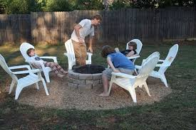 Pictures Of Backyard Fire Pits Make An Inexpensive Backyard Fire Pit Hometalk