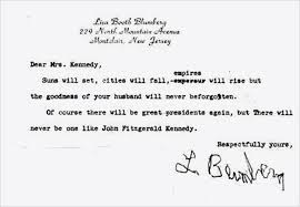 letters capture american grief after the kennedy assassination