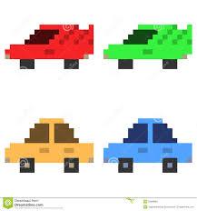 pixel car top view pixel car clipart