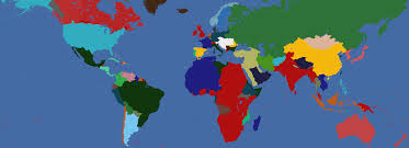 1914 World Map by I Tried My Best At Creating 1914 Borders With Custom Nations Eu4