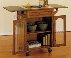 kitchen island cart with drop leaf breathtaking oak kitchen carts and islands with textured glass
