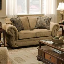 Simmons Upholstery Furniture Simmons Upholstery 4277 Traditional Loveseat With Rolled Arms And