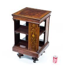 Oak Revolving Bookcase Furniture Excellent Revolving Bookcase End Table Photo Cool