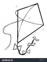 kite outline clipart clipartxtras