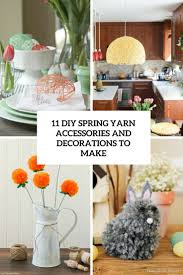 Home Decorations And Accessories by 11 Diy Spring Yarn Decorations And Accessories To Make Shelterness