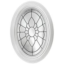 hy lite 23 25 in x 35 25 in decorative glass fixed oval vinyl