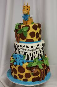 jungle baby shower cake baby themed cakes oakleaf cakes bake shop