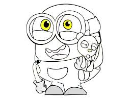 minion coloring pages bob free coloring pages