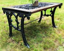 Black Rod Iron Patio Furniture Vintage Wrought Iron Patio Furniture Etsy