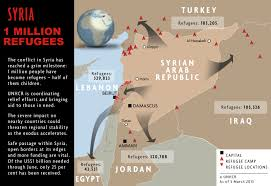 Homs Syria Map by Syrian Refugee Crisis In Maps