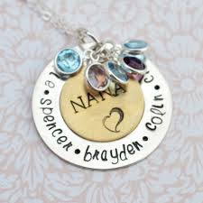 personalized jewelry for nana pendant with birthstones family necklace personalized jewelry