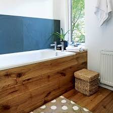 Bathroom Natural The Slate Tiles Used As A Splashback And Oak Bath Surround Give