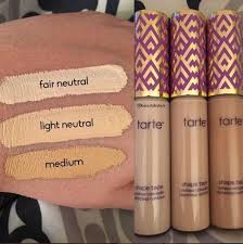 tarte light medium neutral new tarte shape tape concealer tarte contour fair light light medium
