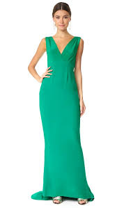 diane von furstenberg sleeveless deep v tailored gown shopbop