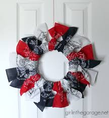 4th of july wreaths easy bandana wreath girl in the garage