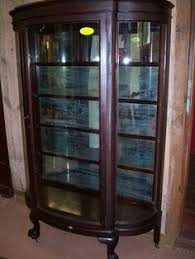 antique curio cabinet with curved glass antique curio cabinets quarter sawn oak curved glass china cabinet