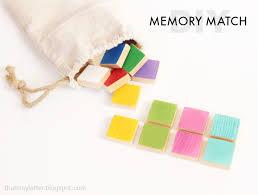 Kids Wood Crafts - diy wood memory match game lolly jane