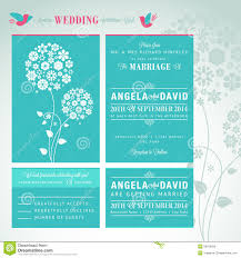 Wedding Invitation Cards Download Free Modern Wedding Invitation Card Set Royalty Free Stock Image