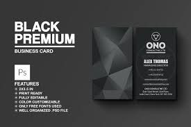 black premium business card business card templates creative