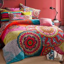 Moroccan Bed Sets Bohemian Bedding Set 4pcs Winter Warm Boho Bedclothes Moroccan