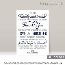 wedding reception program sle navy wedding reception thank you card templates 2480758 weddbook