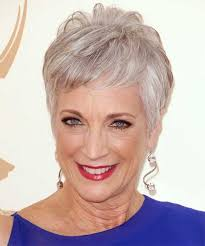 pictures on short hairstyles for older women with fine thin hair