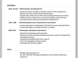Asp Net Sample Resume by 100 Skills To Include On A Resume What To Include On A