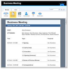 meeting schedule template