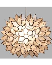 Capiz Light Pendant Slash Prices On Large Capiz Lotus Pendant Shade White Capiz