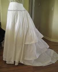 how to make a victorian flounced petticoat victorian bustle and