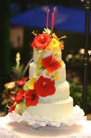 hawaiian themed wedding cake this is a bigger picture of the same