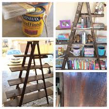 Leaning Bookshelf Woodworking Plans by Easy A Frame Ladder Bookshelf The Wife In Training