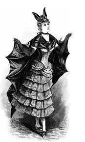 victorian bat woman halloween costume from circa 1887