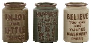 bronze kitchen canisters 8 enjoy happiness believe ceramic cutlery jars 3 set