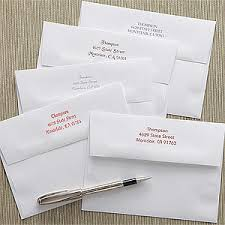 printed return address personalized greeting card envelopes a7