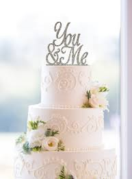 wedding cakes near me glitter wedding cake toppers script you me cake toppers