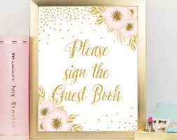 bridal shower sign in book baby shower guest book sign girl birthday guest book sign