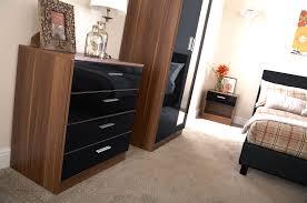 walnut bedroom furniture bedroom furniture 3 piece set black gloss walnut wardrobe