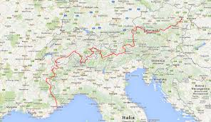 Alps On World Map by Transalp U2013 From The East Vienna To The West Nice Transalp By