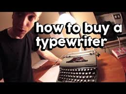 where can i buy a how to buy a typewriter