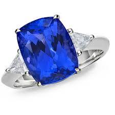 tanzanite stone rings images Exceptional 4 63 carat cushion cut tanzanite diamond caroline jpg