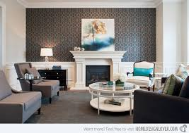 wallpaper livingroom 15 living rooms with printed wallpapers home design lover
