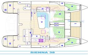 catamaran charters boat layout